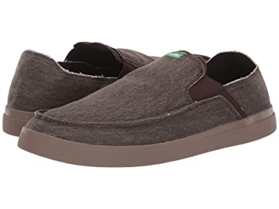 Sanuk Pick Pocket Slip-On Sneaker (Dark Brown) Men