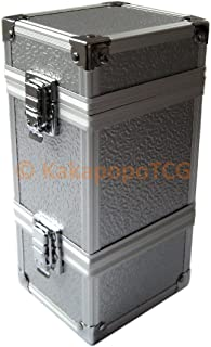 KM-T01 Monolith Silver Stackable Metal Double Deck Box or Dice Box Storage Trading Cards TCG Ultra Pro Sleeve MTG Magic the Gathering Pokemon YGO Yugioh EDH Dice Star Wars Vanguard