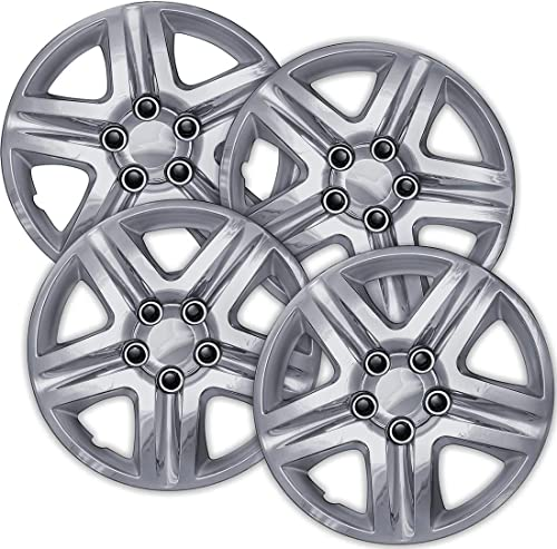 wholesale 16 popular inch Hubcaps Best for 2006-2013 Chevrolet Impala - (Set of 4) Wheel Covers popular 16in Hub Caps Chrome Rim Cover - Car Accessories for 16 inch Wheels - Snap On Hubcap, Auto Tire Replacement Exterior Cap outlet online sale