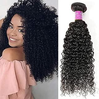 Alisfeel 8A Brazilian Jerry Curly Hair Bundle 100% Unprocessed Human Virgin Hair 1 Bundle Weave Dyeable Hair Deals Natural Color 100g (24)