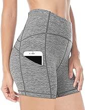 QUEENIEKE Women 6 Inches Inseam Power Flex Mid-Waist 3-Pocket Running Shorts Workout Fitness 70822