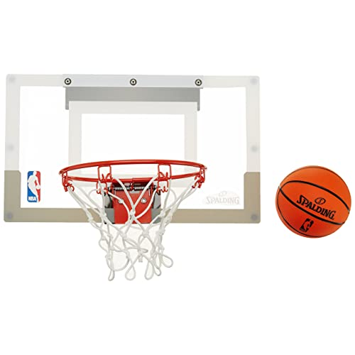 SPALDING - Mini Panier Basket NBA - Mini Ballons inclus - Maison ou Bureau - SLAM JAM BOARD TEAMS (56-100CN)