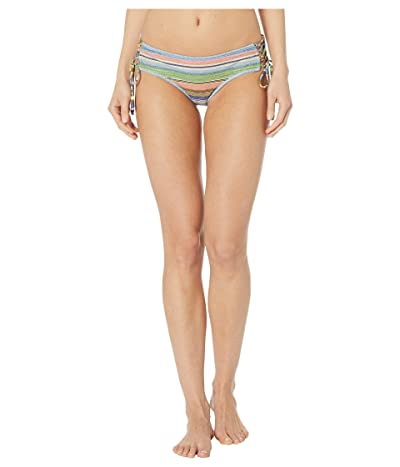 BECCA by Rebecca Virtue East Village Emily Lace-Up Corset Tie Side Hipster Bottoms (Blue Shadow) Women