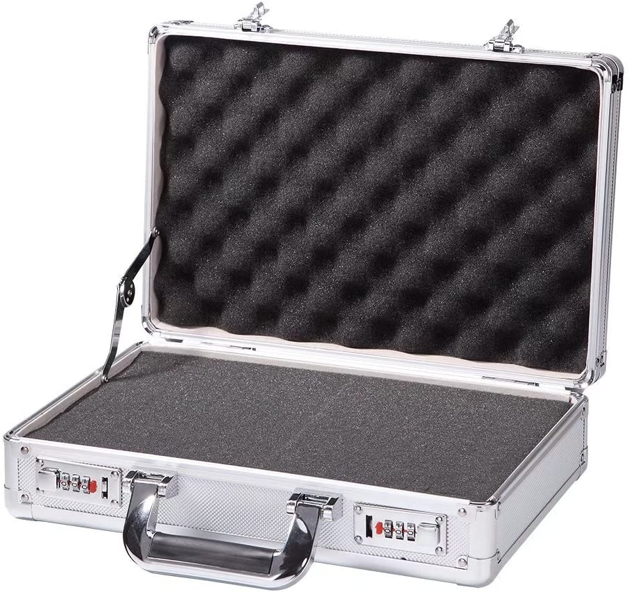 Aluminum Hard 海外 Shell Case Briefcase Portable Carrying Small 期間限定