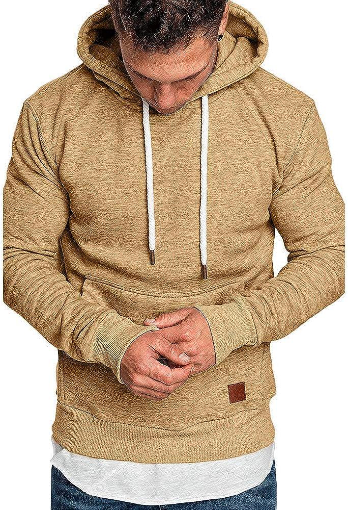Mens Tops Casual Long Sleeve, Men's Spring Autumn Sweatshirt Hoodies Blouse Tracksuits Sports Outwear Hooded Sweatshirts
