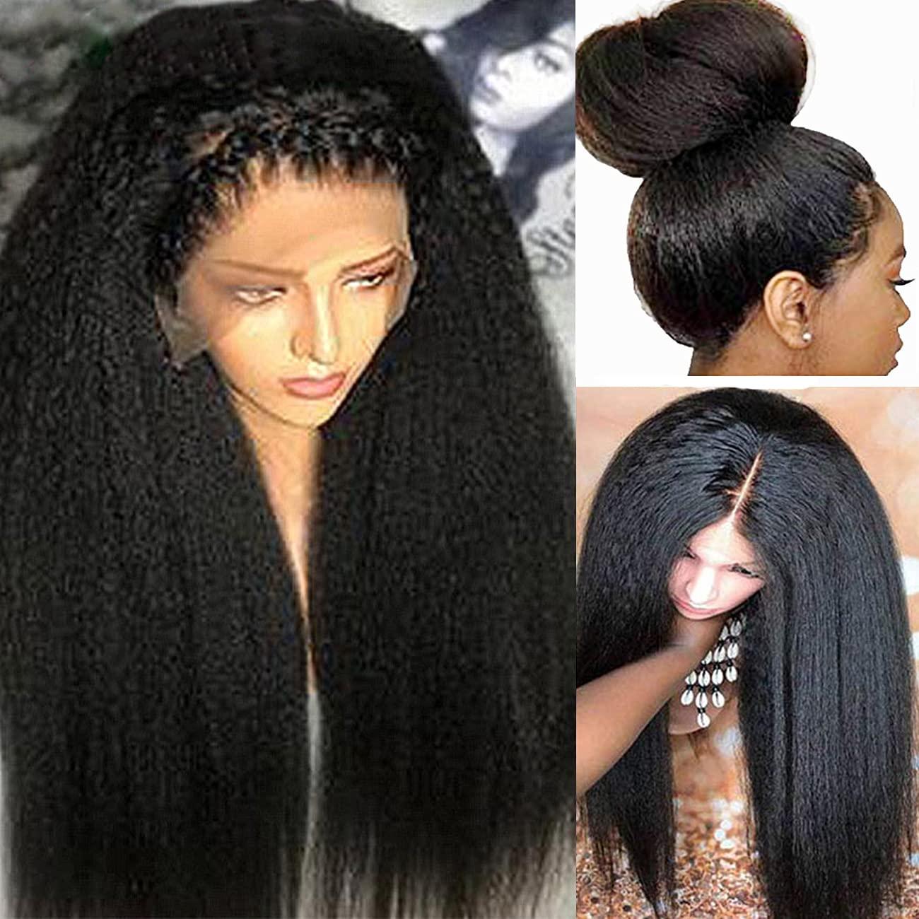Yaki Minneapolis Mall Kinky Straight Human Hair 13x4 Cl Wig 30inch Popular