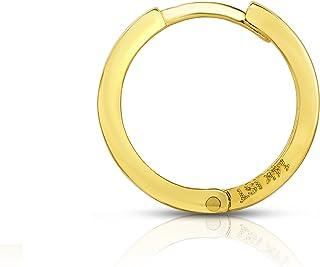 Sponsored Ad - MCS Jewelry 14 Karat Yellow Gold Men's Unisex Huggie Hoop SINGLE Earring (Diameter: 13 mm)