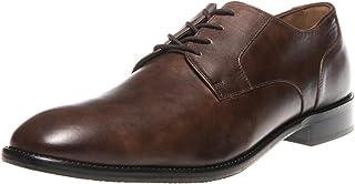 Manz Zapatos de Cordones de Piel Lisa para Hombre Marrón Marrón