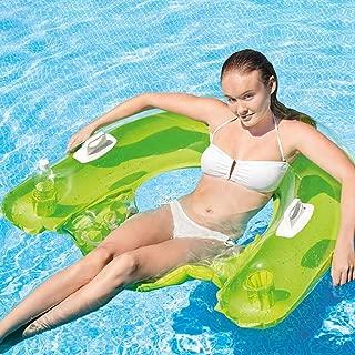 Gonflable Lounge flotteur piscine été flottant radeau chaise couleurs peuvent varier