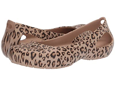 Crocs Kadee Printed Flat (Leopard/Gold) Women