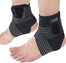 JJCALL left+right Ankle support brace, adjustable compression ankle support brace, used for sports protection, Most for Me...