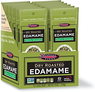 Seapoint Farms Dry Roasted Edamame - Spicy Wasabi - 1.58 OZ - 12 pk