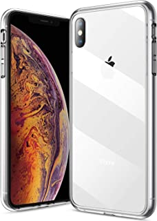 Clear iPhone Xs Case/iPhone X Case, RANVOO Glass Hard 9H+ Tempered Glass Back [Never Yellows] + Premium Silicone Bumper [Non Slip] Full Protective Transparent Case iPhone Xs/X, Crystal Clear