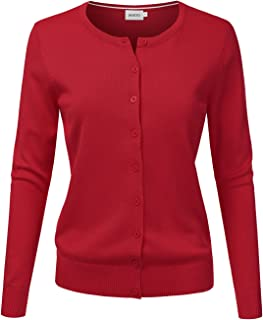NINEXIS Women's Long Sleeve Button Down Soft Knit Cardigan Sweater