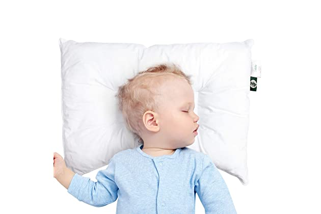 """Baby Newborn Pillow with Cotton Pillowcase Suitable for Infant Toddler 14/""""x19/"""""""