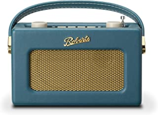 Roberts Revival Uno Retro Portable/Compact DAB/DAB+/FM Digital Radio with Alarm Clock Radio, Teal Blue