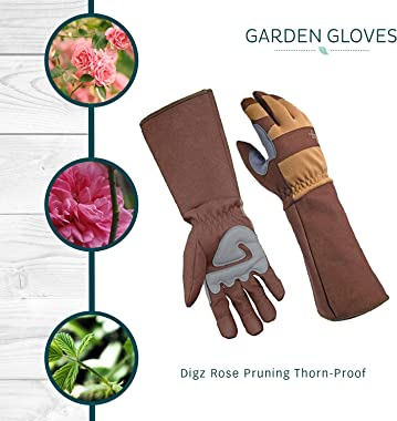 Digz Rose Pruning Thorn-Proof Gardening Gloves with Forearm Protection for Men and Women, Puncture Resistant Gardening Glove,