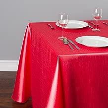 LinenTablecloth Rectangular Shantung Silk Tablecloth, 90 x 132, Red