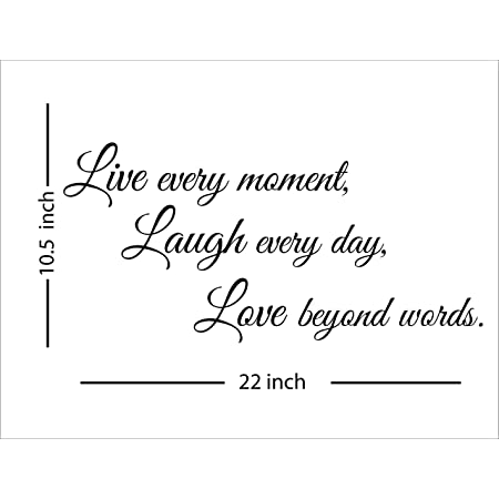 Wall Decal Live Laugh Love Motivational Words Vinyl GREY 22.5 in x 17.5 in gz328