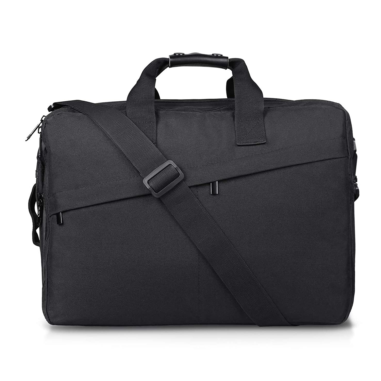 Cierto Laptop Bag Business Briefcase for Men 15.6 Inch, Large Expandable Compartment & Removable Shoulder Strap with Water Resistant Materials