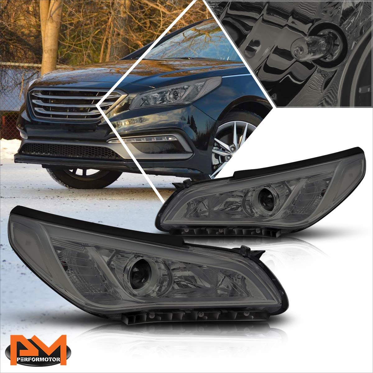 Projector Headlights Assembly Compatible with Ranking TOP16 Sonata Hyundai 15- Recommendation