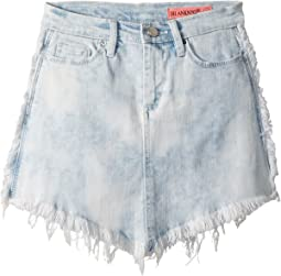 Cut Off Mini Skirt in Washed Gaze (Big Kids)
