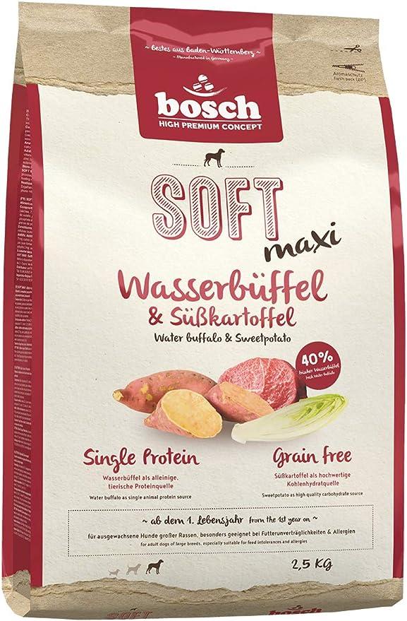 bosch HPC SOFT Maxi | Búfalo de agua & Batata | Comida semihúmeda (18 % húmedad residual) para perros adultos de razas mayores | Sin Cereales | ...