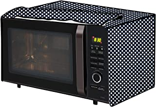 The Furnishing Tree Microwave Oven Cover for IFB 30 L Convection 30FRC2 Polka dot Pattern Navy