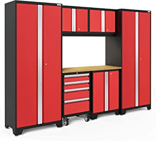 NewAge Products Bold 3.0 Red 7 Piece Set, Garage Cabinets, 50643