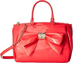Betsey Johnson Neon Patent Bow Satchel