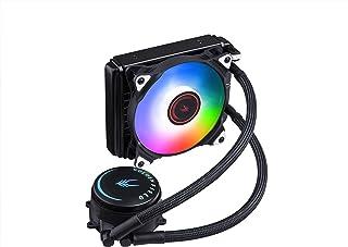 Golden Field - Enfriador de CPU líquido todo en uno RGB con radiador de refrigeración por agua para Intel AMD Socket CPU 120 mm