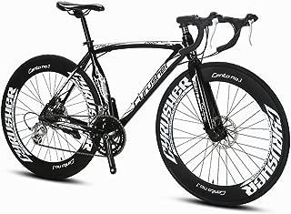 Cyrusher XC700 Road Bicycle Shinano 2300 Aluminium Frame 54 cm 700C 70MM Mens Road Bike 14 Speeds Mechanical Disc Brakes