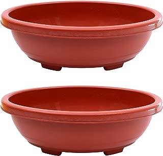 """Klaxon Gardening Flower Pots - 16"""" Garden Big Plastic Planters Terracotta Color - 2 PCS"""