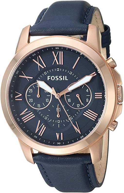 FS4835IE Rose Gold Navy Leather