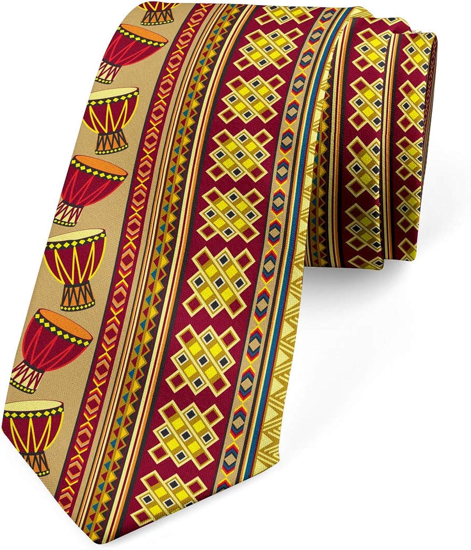 Ambesonne Necktie, Abstract, Dress Tie, 3.7