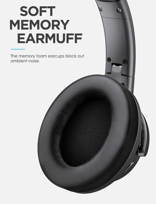 Noir Z/éro Latence Pour iPhone Samsung Huawei LG Kit Main Libre TV PC 18h de jeu Mixcder HD401 Casque Bluetooth Circum Avec APTX HI-FI Ecouteurs Audio St/ér/éo Sans Fil Ultra-l/éger Tablette