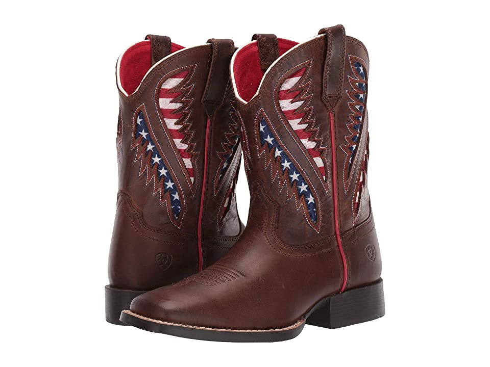 Ariat Kids Quickdraw Venttek (Toddler/Little Kid/Big Kid) (Cowboy Brown) Cowboy Boots