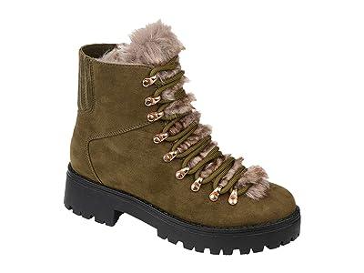 Journee Collection Comfort Foam Trail Boot (Olive) Women
