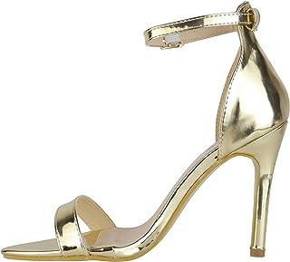 ece9757b BeMeesh Plataforma Mujer de Punta Stiletto Tacón Alto Sandalias Zapatos