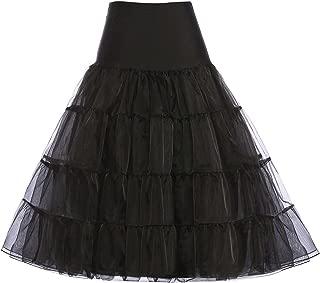 GRACE KARIN Women's 50s Vintage Petticoat Crinoline Tutu Underskirts Tea Length 30 inch Long