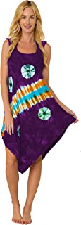 INGEAR Casual Summer Crochet Sleeveless Loose Handkerchief Hem Dress Beach Cover Up