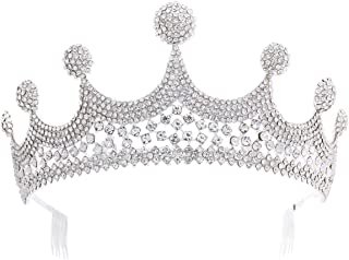 LUCKYYY Accessorio da Sposa Corona da diadema Abito da Sposa per Banchetto Abito da Sposa