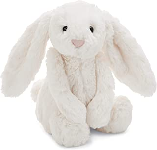 Jellycat Bashful Cream Bunny Stuffed Animal, Medium, 12 inches