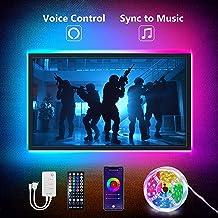 Homeyard LED Strip Lights for TV 2m 6.56FT, App Control TV Led Light Strip Work Music Sync Rope Light WiFi RGB Color Chang...