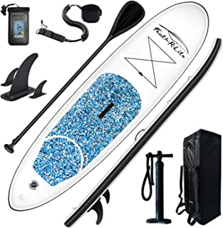 FEATH-R-LITE Inflatable Stand Up Paddle Board 10'x30''x6'' Ultra-Light (16.7lbs) SUP with Paddleboard Accessories,Three Fi...