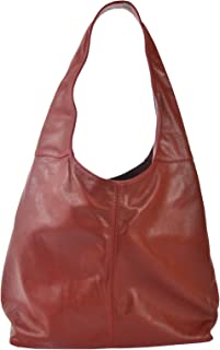 Chicca Tutto Moda CTM Borsa a spalla da donna in vera pelle made in Italy D6170-41x55x12 Cm