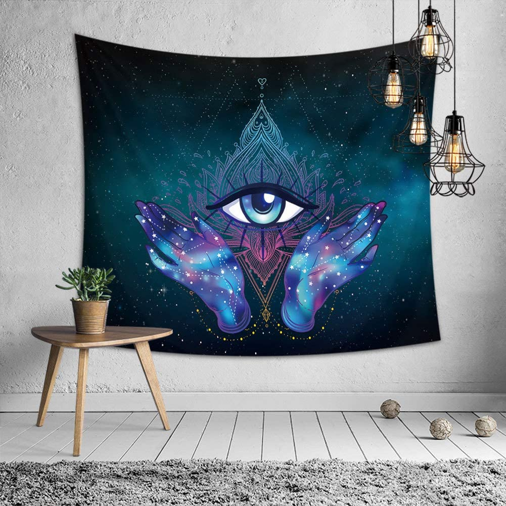 OATHENE Hamsa Purple Memphis Mall Tapestry Traditional Third F Eye Hand Fort Worth Mall