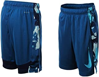 Boy's Dri-Fit Above All Basketball Shorts Industrial Blue/Blue/Camo 850454-457(Large)