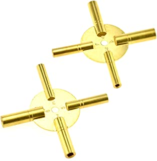SE Universal 4 Prong Brass Clock Key for Winding Clocks, Odd and Even Numbers (2 PC.) - JT6336-2