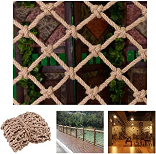 HWJ Children s Outdoor Climb Nets Stair Protection Nets Photo Decorative Wall Nets Ceiling Nets Child Safety Nets Fall Prevention Nets Vintage Decorations Hand-woven  Size 2x3m 6 56x9 84ft